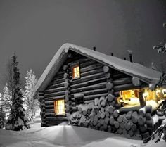 WinterZ Wonderland Winter cabin wallpaper Shopping For The Best Discount Chandeliers Article Body: C Color Splash Photo, Snow Night, Buddha, Log Cabin Living, Splash Photography, Small Cottages, Winter Cabin, Winter Fun, Lake Cabins