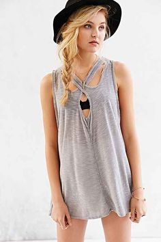 Pins And Needles Why Me Rocker Tank Top - Urban Outfitters
