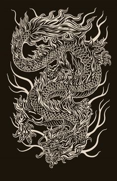 Chinese Dragon digital illustration… 2011 - Famous Last Words Dragon Tattoo Art, Dragon Tattoo For Women, Japanese Dragon Tattoos, Dragon Artwork, Dragon Tattoo Designs, Arrow Tattoo, Dragons, Dragon Illustration, Chris Garver