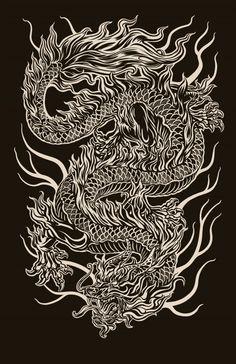 Chinese Dragon digital illustration… 2011 - Famous Last Words Dragon Chino Tattoo, Dragon Tattoo Art, Dragon Tattoo For Women, Japanese Dragon Tattoos, Dragon Artwork, Dragon Tattoo Designs, Japon Illustration, Arrow Tattoo, Dragons