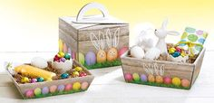 Kolorowe Koszyczki Wielkanocne Wicker Baskets, Toy Chest, Packaging, Toys, Decor, Cardboard Paper, Gifts, Activity Toys, Decoration