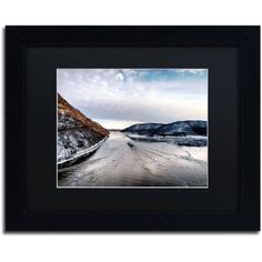 Trademark Fine Art Hudson Valley Canvas Art by David Ayash Black Matte, Black Frame, Size: 11 x 14