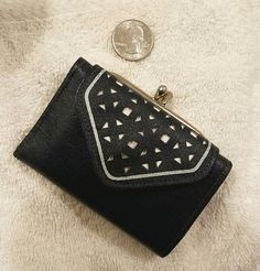 Princess Gardner navy buffalo French purse tri fold wallet. Haven't found when made, early 1960s?