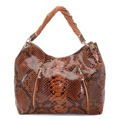 Michael Kors Pearlized Large Brown Hobo