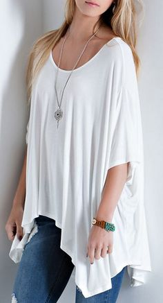 Love loose shirts that flow like this one.