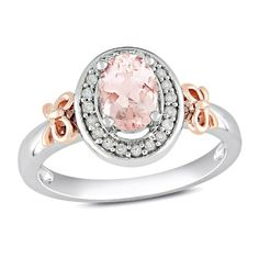 10k Rose Gold and Sterling Silver, Diamond and Morganite Bow Ring, (0.1 cttw, GH Color, I2 Clarity), Size 6 Has :               (6)       Good Reviews From Customers. Check All Reviews, Details, Features, and How To Get it with Best Price/Discount Here:   http://short.shopingzon.com/TOsK8