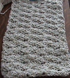 Shell Crochet Winter Scarf