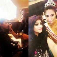 Before and after by celeb mua shikhabhaimia Model Miss jewels of India usa
