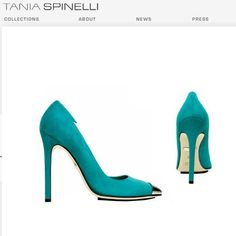 Tania Spinelli-Turquoise Metal Tip Pumps...Adore :)