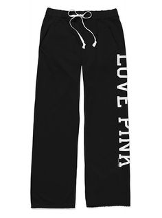 Most comfy lounge pants ever... and they're long enough, too!  VS Pink Boyfriend Pants