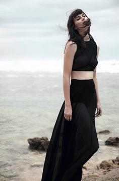 Black Mesh Xanthe Full Length Skirt by Hopeless on Etsy, $280.00