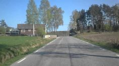 Swedish country road in spring time
