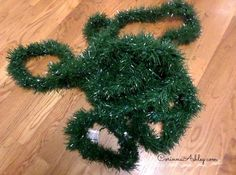 *Use shiny green tinsel to make your Christmas tree look fuller.