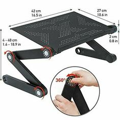(eBay Ad Url) WonderWorker Newton Ergonomic Folding Laptop Table, With Cooling Pad, Black Laptop Desk For Bed, Laptop Tray, Lap Desk, Camper, Portable Desk, Foldable Bed, Check Email, Bed Tray, Cool Ideas