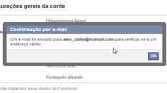 Como trocar o e-mail principal do Facebook