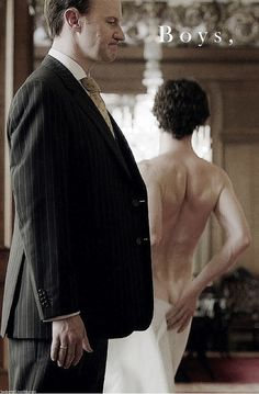 """Boys, please""  John to Sherlock and Mycroft  (A Scandal in Belgravia, S2E1)"