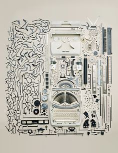 Unassembled Typewriter