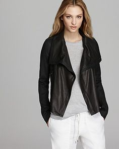 Vince Jacket - Rustic Linen and Leather | Bloomingdales...want $995 :(