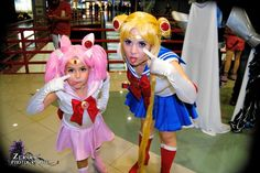 Sailor Moon and Sailor Chibi Moon by Chiibiimoon.deviantart.com on @DeviantArt