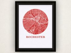 Rochester Map Print  City Map Poster by OMaps on Etsy, $20.00