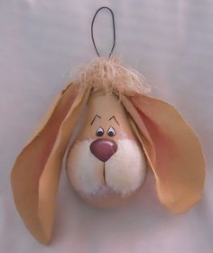 Lightbulb Ornaments | Lightbulb Ornaments | Hand Painted Light Bulb BUNNY RABBIT Ornament by ...