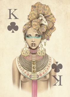 Playing poker cards set by Marisa Jimenez's Artist