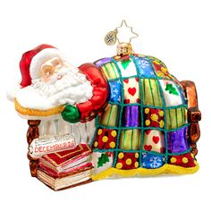 Christopher Radko Winter Dreamer Sleeping Santa Claus Ornament