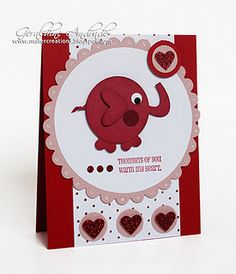 This person made the cutest elephant out of circle and heart punches!  LOVE!