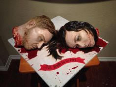25 Terrifying Halloween Cakes to Curdle Your Blood Unique Wedding Cakes, Unique Weddings, Haloween Cakes, Horror Cake, Horror Film, Scary Cakes, Zombie Wedding, Terrifying Halloween, Realistic Cakes