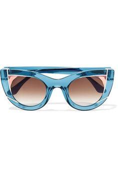 deb0724698f7 Thierry Lasry - Wavvvy Cat-eye Acetate Sunglasses - Blue Blue Sunglasses