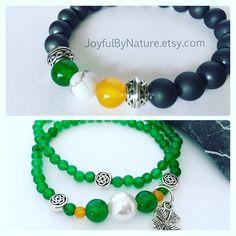 His-hers Irish flag bracelets & more. Handmade originals from JoyfulByNature. https://www.etsy.com/shop/JoyfulByNature #etsymntt #gift #irish