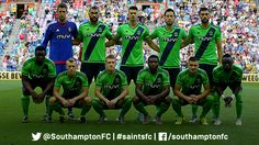 PHOTO: #SaintsFC's players line up for the second leg of the @EuropaLeague qualifier against @MijnVitesse.
