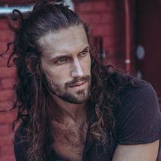 Delicious men with long hair and a beard!