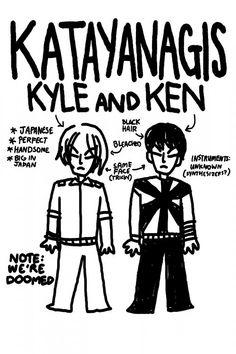 Los hermanos Takayanagy dibujados por Stephen Stills