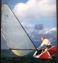 1953 Girl Sailing Sailboat Nautical Blue by VintageAllianceAds, etsy