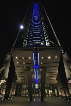 Worm's Eye View of Blue Black and White Lightened Building during Nighttime - get this free picture at Avopix.com     https://avopix.com/photo/47273-worm-s-eye-view-of-blue-black-and-white-lightened-building-during-nighttime    #city #skyscraper #building #sky #architecture #avopix #free #photos #public #domain