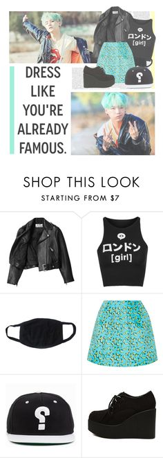"""""""Ma City--- BTS"""" by alicejean123 ❤ liked on Polyvore featuring Acne Studios, Illustrated People and Markus Lupfer"""