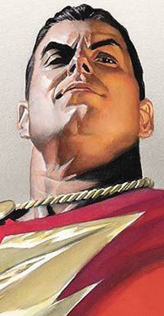 Captain Marvel/Shazam by Alex Ross Héros Dc Comics, Dc Comics Superheroes, Dc Comics Characters, Original Captain Marvel, Captain Marvel Shazam, Shazam Comic, Comic Book Artists, Comic Artist, Comic Books Art