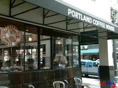 """The First Date:  Portland Coffee House.  """"We walk four blocks before we reach the Portland Coffee House, where Grey releases me to hold open the door so I can step inside."""" (Book 1, Page 39)"""