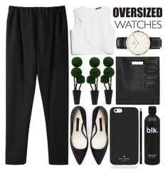 """Oversized Watch - Polyvore Contest"" by evangeline-lily ❤ liked on Polyvore featuring Guerlain, Stephan Schneider, MANGO, Zara, 3.1 Phillip Lim, Daniel Wellington, Kate Spade and OversizedWatch"