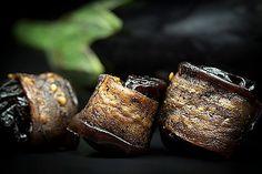 L'instant cru : Aperçu Recette : Pruneaux au Bacon d'Aubergine