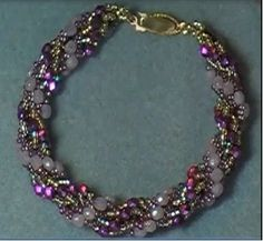 Double Spiral Rope Chain (NOT Dutch spiral) - full tute to do with any combo of beads in outer loops ~ Seed Bead Tutorials