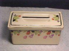 Vintage Hall China Crocus USA Rectangular Leftover Refrigerator Box Hallu0027s
