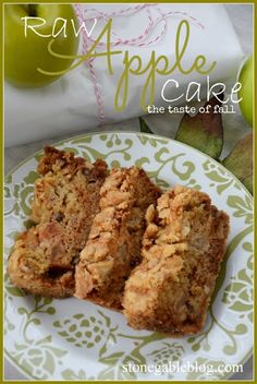 RAW APPLE CAKE the best fall cake you will ever make! stonegableblog.com