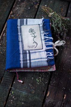 Тимьян Аромат мягкий ноутбук с травами - Текстильная Эко Дневник Журнал