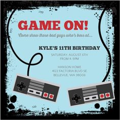 S Vintage Arcade Video Game Invitation S Vintage Arcade Video - Birthday invitation video
