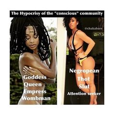 """To see how awakened conscious and real a person is just take a look at how they treat others especially when it comes to women! You will see so many who claim to be awakened and #conscious bashing other Ladies who are proud of themselves and love their bodies while showing it in a fashionable or different way than what some might consider to be a """"goddess""""! Men who will judge them by the way they dress and based on their posts as if they'd even know what they are talking about! To all little…"""