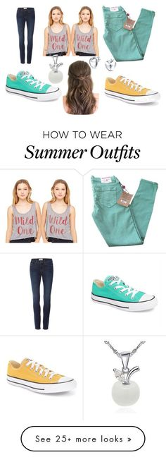 Summer Outfits : twin fashion #1 by madih5991 on Polyvore featuring True Religion Frame Conve