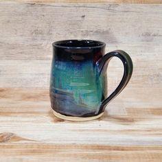 Mug, Stoneware Coffee Mug, Stoneware Mug, Stoneware Pottery Mug, Coffee Mug. Cute Coffee Mugs, Ceramic Coffee Cups, Stoneware Mugs, Pottery Mugs, Pottery Art, Rustic Mugs, Clay Mugs, Green Copper, Christmas Mugs