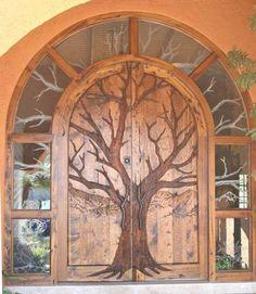 Two of my favs....Tree & Door